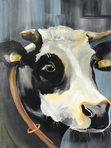 "Painting Cow ""Herta"", art print"